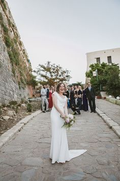 Yelena and Liam's 39 guest Crete wedding. Photography by HannaMonika. Read more.... @intimateweddings.com #smallweddings #realweddings