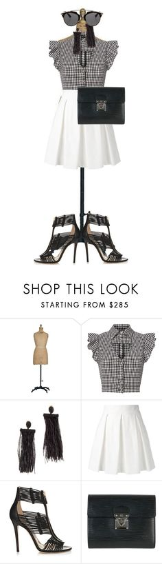 """""""UNTITLED #287"""" by glamfashioner ❤ liked on Polyvore featuring Marissa Webb, Oscar de la Renta, Boutique Moschino, Jimmy Choo, Louis Vuitton and Christian Dior"""