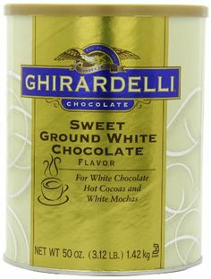 Ghirardelli Chocolate Sweet Ground White Chocolate Flavor Beverage Mix, 50-Ounce Canister - http://bestchocolateshop.com/ghirardelli-chocolate-sweet-ground-white-chocolate-flavor-beverage-mix-50-ounce-canister/