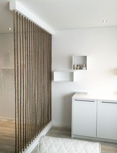 More Rope Wall Examples for the Piazza:  15 Simple Rope Wall For Room Dividers