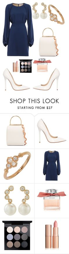 """Chloé Fashion Show"" by selin-richie ❤ liked on Polyvore featuring Roksanda, Jimmy Choo, Cartier, Chloé, Tara and MAC Cosmetics"