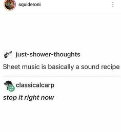 Sound recipe - Food Meme - Sound recipe The post Sound recipe appeared first on Gag Dad. Band Nerd, Music Jokes, Music Humor, Dankest Memes, Funny Memes, Hilarious, My Tumblr, Tumblr Funny, Just In Case