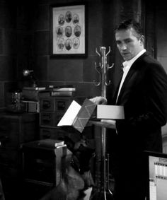 """""""Who said it was for you?""""  Jim Caviezel as John Reese and Bear in Person of Interest"""