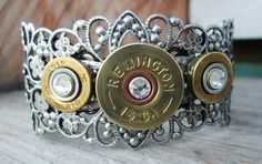 Shot gun shell bracelet