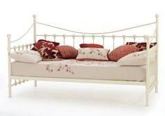 Serene Marseilles 3FT Single Metal Day Bed (Optional Trundle Bed)