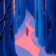 Robert Frank Hunter › Little Fictions Robert Frank, Robert Hunter, Landscape Illustration, Illustration Art, Jack O Latern, Tree Trunks, Illustrators, Sketches, Neon Signs