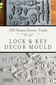 Add some vintage three dimensional flair to your DIY home decor project with the new IOD decor moulds. Upcycled Crafts, Handmade Crafts, Diy Crafts, Decor Crafts, Diy Home Decor Projects, Craft Projects, Decor Ideas, Diy Ideas, Craft Ideas