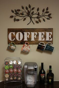 megan moralita you need this   Rustic Coffee Cup Holder by TheRusticBox on Etsy, $25.00