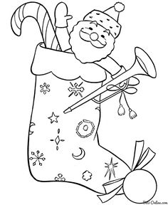 Printable Santa Claus coloring page. Free PDF download at ...