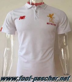Polo Foot FC Liverpool Blanc 2017 2018 Moins Cher