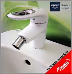 Baterie bideu Grohe Eurostyle culoare alba Hair Dryer, Faucet, Glee, Dryer