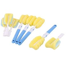 uxcell Sponge Head Kitchen Detachable Milk Bottle Tea Cup Glass Cleaning Cleaner Tool Brushes 4pcs * Be sure to check out this awesome product.