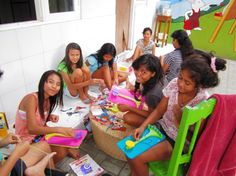 Emma of DMC Threads is spending nearly a month teaching stitching and crafts to the children of Jodie O'Shea Orphanage in Bali
