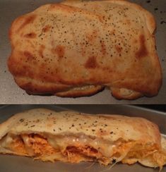 Buffalo Chicken Calzones!! I've died and gone to heaven.....would be content to get fat off these and 4 cheese sausage ;-)