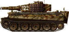 Ausf E sPzAbt 509, Ausf. E mid-production, 509 Schwere Pz.Abt, Russia, fall 1944.