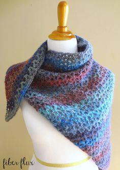 Fiber Flux: Free Crochet Pattern...Kristen Shawl!...shawl or shawlette.  Shawlette could also be a good scarf.