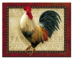 Glass Cuttingboard - Rooster Farm
