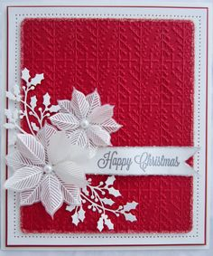 card christmas poinsetta PartiCraft (Participate In Craft): Wednesday Weekly Card Giveaway Homemade Christmas Cards, Christmas Cards To Make, Xmas Cards, Christmas Greetings, Homemade Cards, Handmade Christmas, Greeting Cards, Holiday Cards, Rustic Christmas