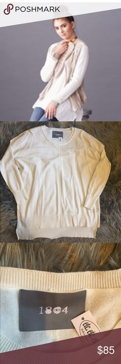 Cream Sweater Bought at boutique in California. I do not trade. No low ball offers Coin 1804 Sweaters Crew & Scoop Necks