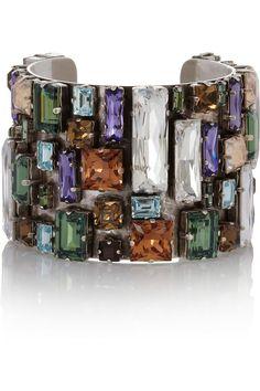 Philippe Audibert Bouquet silver-plated Swarovski crystal cuff NET-A-PORTER.COM