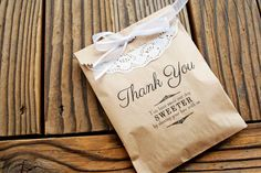 Favor Bags  Wedding Favor Kraft Bags  Thank You Message  by mavora, $25.00