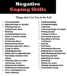 Negative coping skills by Blake Flannery. Negative ways to show anger. Let's all make sure we are crossing all of these off the list! Turn them into positive coping skills. Counseling Activities, School Counseling, Therapy Activities, Mental Health Counseling, Under Your Spell, Therapy Tools, Therapy Ideas, Art Therapy, Life Skills