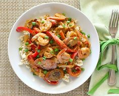 Andouille Sausage and Shrimp With Creole Mustard Sauce from Apple a Day <-- #WinePairing: Sutter Home Riesling