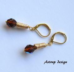 Smoky quartz briolette + gold cone earrings from Lisa Astrup Art & craft by DaWanda.com