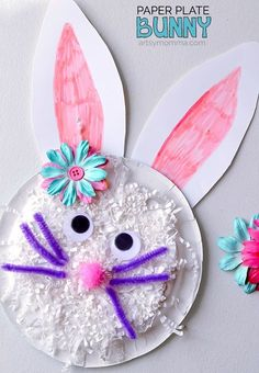 Read the story about a toddler & her favorite toy, Knuffle Bunny: A Cautionary Tale by Mo Williems. Then make a Shredded Paper Bunny Craft!