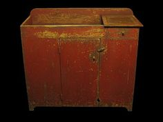 Red dry sink