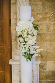 Elena and Roy's elegant Cyprus wedding in Ayia Napa has me dreaming… When I first laid my eyes on their wedding photos I found myself completely Church Wedding Decorations, Bridal Decorations, Ceremony Decorations, Wedding Church, Catholic Wedding, Greek Wedding, Elegant Wedding, Church Candles