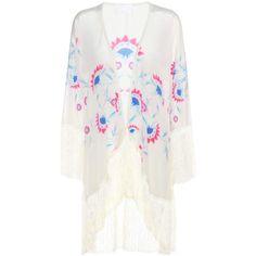68282590db Athena Procopiou Flower Child Fringed Silk Kimono For Spring-Summer 2017.  Andra White