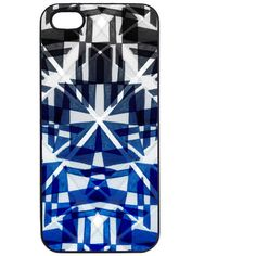 Samantha Warren London Optic Blue Phone Case ($27) ❤ liked on Polyvore featuring accessories, tech accessories and blue