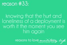 Reasons to love military life #33 I know it is but I can hardly wait!!!♥