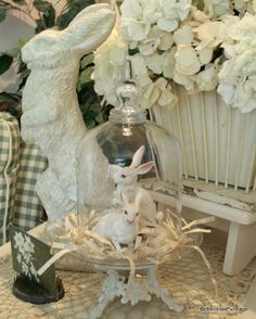 creamy neutral easter display