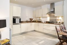 Integrated Appliances - built-in oven, hob with extractor hood are all integrated to maintain a sleek contemporary kitchen design. All appliances are A-rated and combine high performance with low energy use.