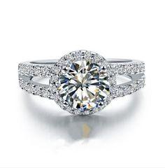 Sterling Silver Synthetic Diamond 1ct diamond wedding ring