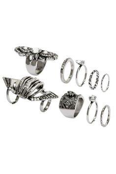 Pack de 9 anillos   H&M