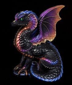 "Windstone Editions ""Black Amethyst 2"" Spectral Dragon Figurine Statue | eBay #dragon #fantasy #sculpture"