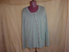 Merona Green Cardigan Sweater and Vest Twinset size 1 X Career Office #Merona #Twinset Seller florasgarden on ebay