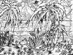 landscape coloring pages for adults Google Search Coloring