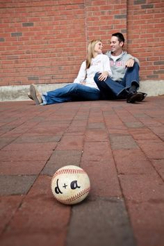 Cute idea for engagement pictures.