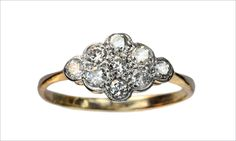 1910-20s Cluster Ring