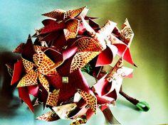 Autumn Wedding Mini Pinwheel Bridal Bouquet by Rule42 by rule42