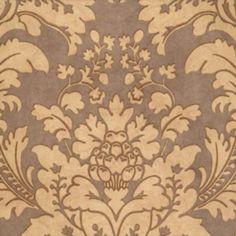 Scalamandre LOCKSLEY DAMASK TAUPE ON ELEPHANT Wallpaper