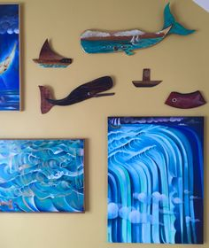 "The ""Water"" show: Jan. 30- Mar. 14, 2015 at BigCrow Studio Exhibition Space. Jonah Roll is the featured artist and these are some of his oil on wood pieces and oil on canvas paintings."