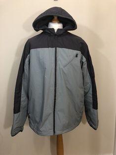 f366ec6787ec Nike Men Coat puffer jacket the athletic dept hood Grey Size XL good  condition