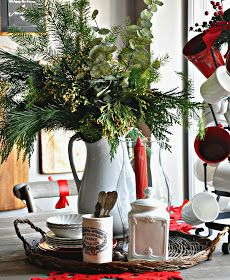 Serendipity Refined: Holiday Home Tour Day 1: French Farmhouse Kitchen
