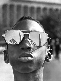 Austin Clinton Brown, age 9, attending Martin Luther King Jr's I have a dream speech, 1963.