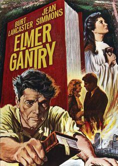 "Burt Lancaster and  Jean Simmons in ""Elmer Gantry"" 1960 - Burt won an Academy Award for his performance"